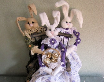 PDF Pattern, Primitive, Bunny Doll, soft sculpture bunny, Bunny, Primitive Doll,