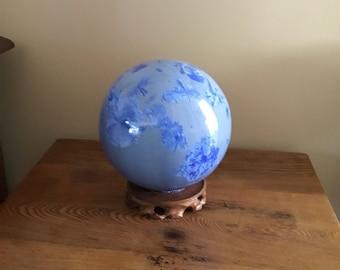 "7"" crystalline glazed sphere"