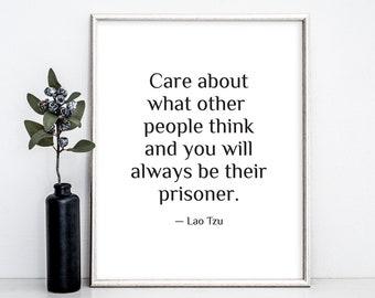 Lao Tzu Quote, Lao Tzu Print, Printable Poster, Wall Art, Taoist Print, Taoist Quote, Motivational Poster, Digital Print, Gift Idea, Minimal