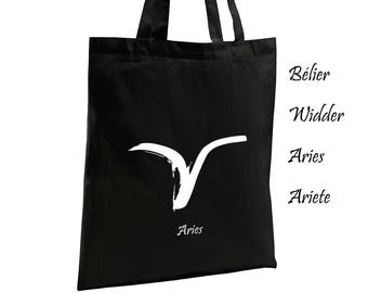 Aries Astrological Sign Cotton Tote Bag Canvas Bag Women