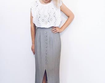 Vintage Houndstooth Skirt