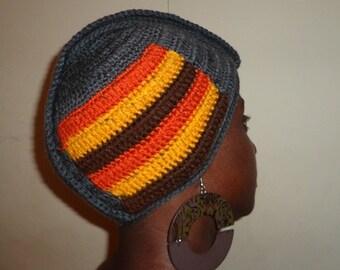Sunny Grays, Crochet Turban