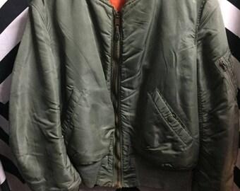 Classic Bomber Jacket Zip-up W/pocket On Sleeve & Lining