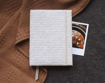Handmade sketchbook with covers made of cotton | Sketchbook A6
