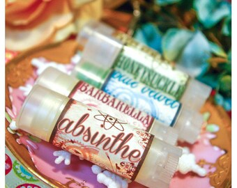 absinthe - mint soaked licorice flavored lip embellishment - housed in nifty frosted dispenser
