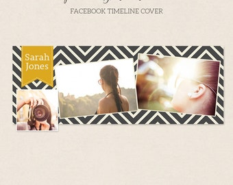 Facebook Timeline Cover - Facebook Timeline Template - PSD Template - Customize Facebook Page - Instant Download - F201