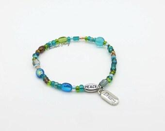 Peace and Dream Strech Bracelet