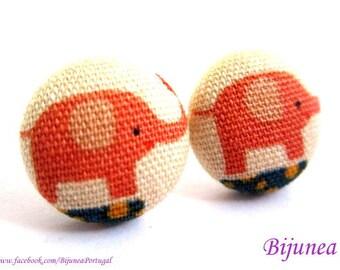 Elephant earrings - Orange elephant earrings - Elephant studs - Elephant stud earrings - Elephant posts - Elephant post earrings sf1092