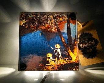 Tom Sawyer - Huckleberry Finn -  Vintage Dictionary Print Design Night Light Box Upcycled Lamp