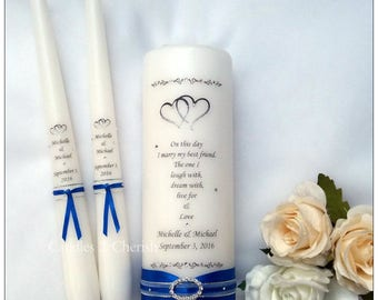 Unity Candle Set - Personalised Unity Candle Set - Unity Candle - Personalised Unity Candle - Wedding Candles