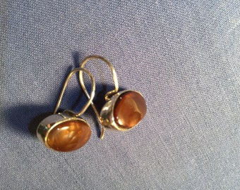 Sterling Silver and Mexican Agate Earrings