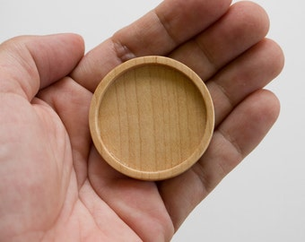 Neatly finished No laser hardwood bezel tray - Maple - 38 mm cavity - (Z383-Mp)