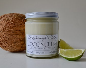 Coconut Lime Soy Candle, Organic, Natural, Wholesale, Bulk
