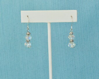 Angel Aura Faceted Quartz .925 Sterling Silver Earrings Set