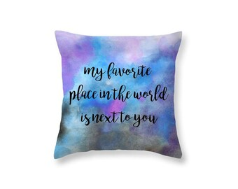 Valentines Day Gift Decorative Throw Pillow Love Quote Throw Pillow - Gift for Boyfriend Pillow Gift for Wife My Romantic Gifts for Her