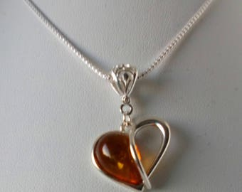 Baltic Amber and 925 Sterling Silver Pendant