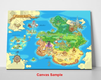 Zelda map etsy legend of zelda orcarina of time world map gumiabroncs Images