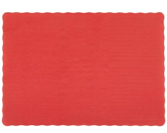Sample of Red Paper Placemats~Christmas Place Setting~Red Placemats~DIY Wedding Red Paper Placemats-Holiday Red Paper Placemats