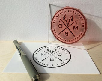 Personalised rubber stamp - Rubber stamp from logo - Business card stamps -Custom rubber square stamp - Personalized small stamp