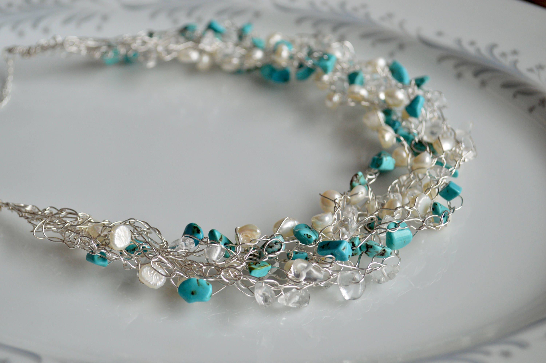 Fantastisch Draht Häkeln Halskette Einfach Fotos - Die Besten ...