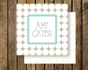 Personalized Calling Cards / Gift Tags / Amy