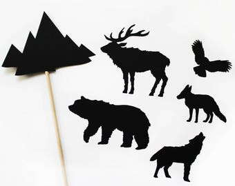 Forestscapes Shadow Puppets, Shadow Puppet Kit, Set of 6, Comes Assembled, Kids Gift, Gift for Kids