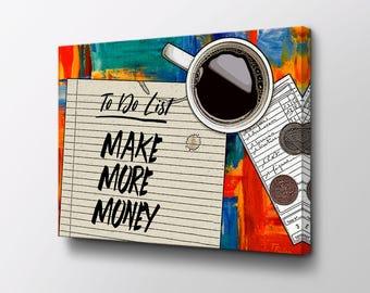 To Do List - Entrepreneur Canvas Art - Original design by Epik - Ready to Hang Wall Art