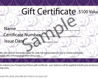 Gift Certificate, Perfect Last Minute Gift, Personalized Voucher for Late Gift, Quick Gift for Teen, Retirement Token, Boss Present