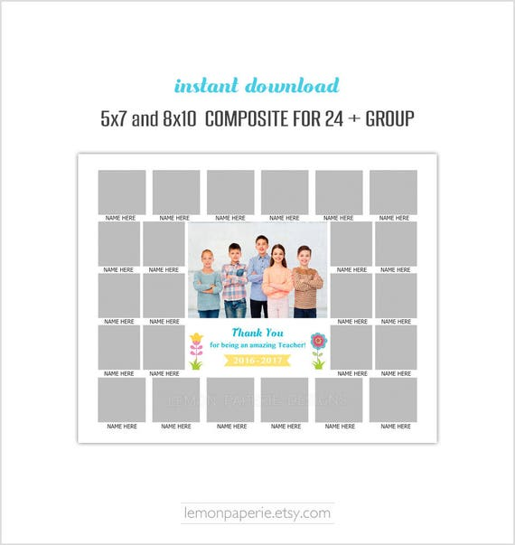 5x7 and 8x10 composite for 24 class template daycare