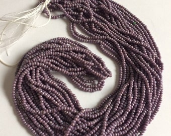 Czech Glass Seed beads - Lavender Luster AB - 1 Hank
