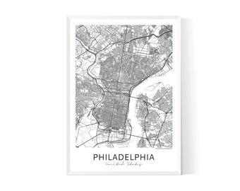 Philadelphia map| Philadelphia map poster| Philadelphia map art| Philadelphia map print| Map of Philadelphia| City maps| City map print