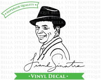 Frank Sinatra Portrait and Signature VINYL DECAL