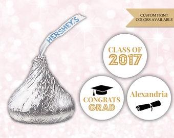 Graduation Hershey kiss stickers (108) - Hershey kiss stickers graduation - Graduation stickers (HK007)