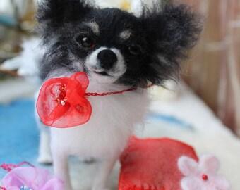 Chihuahua /Custom felted Dog /portrait sculpture dog/Memorial pet replica/small size/sculpture figurine/dog sculpture custom/Pet portrait