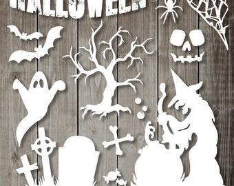 Halloween Clipart - Digital Clip Art Graphics