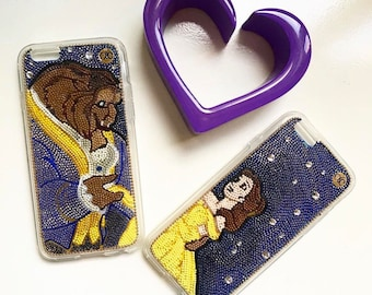 Princess Belle Beauty and the Beast iPhone case-Belle handmade iPhone 7/7+ Belle iPhone 6/6+ the beast S4 case Belle iPhone by ochic