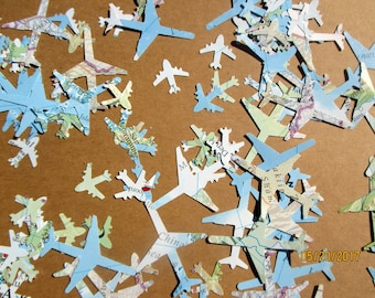250 Count-Airplane Decor Party-Plane Confetti-Airplane baby shower Decorations Boy-Travel Theme Bridal Shower Decorations-Graduation Party