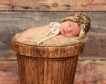Thick and Thin Naturally Cute Bonnet Crochet Pattern