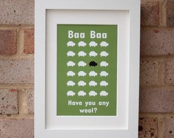 Baa Baa - Giclée Print