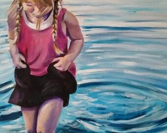 "Age of Innocence I - 16"" x 20"" Acrylic on Canvas Painting"