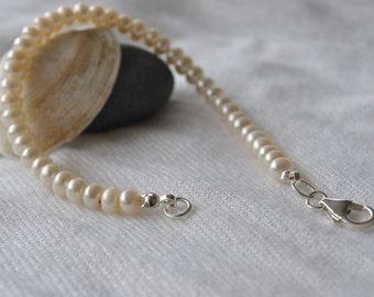 Classic Freshwater Pearl Handmade Bracelet