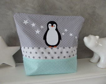 Personalized Penguin Kit stars and name and fabric choice