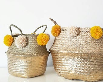 Basket painted 6/8 tassels (more sizes)