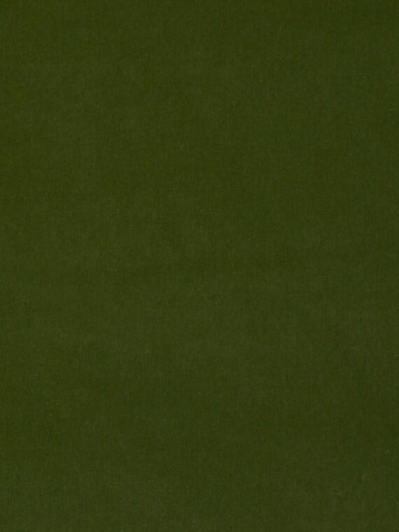 Olive Green Velvet Upholstery Fabric Solid Dark Green Velvet