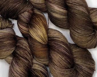 Hand dyed sock yarn, superwash merino, cashmere & nylon. 435 yards/ 100 grams. Perfect for your next knitting, crochet or weaving adventure.