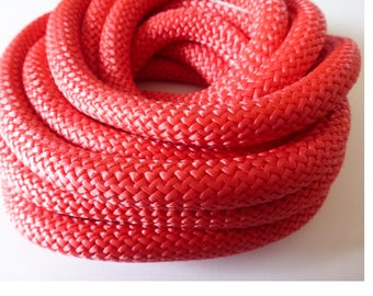 braided round rope 10mm Fuchsia (ref PPC10F) 20 cm