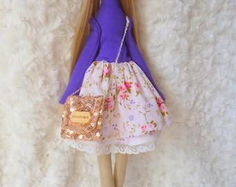 Bright gift, Fabric Doll, textile doll, Soft toy, Cloth doll, Gift Idea, Rag Doll, Tilda doll, Soft doll, Stuffed doll, fairy doll, gift