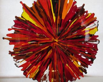 Red Fulmination - Fused Glass Bowl