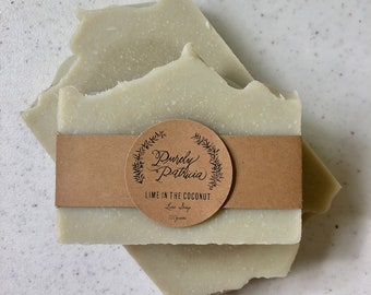 Lime in the Coconut | Lime & Coconut Milk Soap | Purely Patricia | Handmade | All Natural | Vegan
