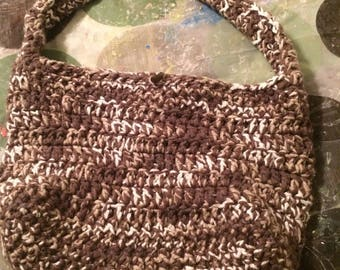 Crochet  Purse - Brown